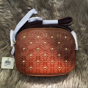 Fossil Elle Leather Crossbody in Brown Multi